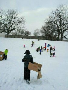 The Cowles Cardboard Sled Derby Combines Snow And Science