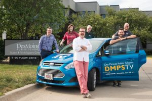 The DMPS communications team (pictured left to right): Adam Rohwer, Amanda Lewis, Phil Roeder, Mike Wellman, Jon Lemons and Kyle Knicley.