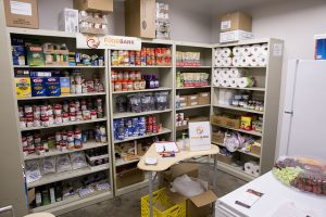 Food pantry at Scavo High School.