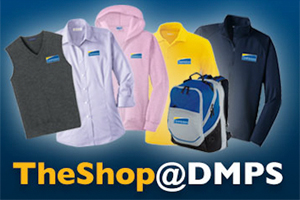 Visit The Shop @ DMPS to purchase district branded clothing and merchandise.