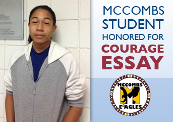 mccombs middle school student honored in national essay contest  mccombs