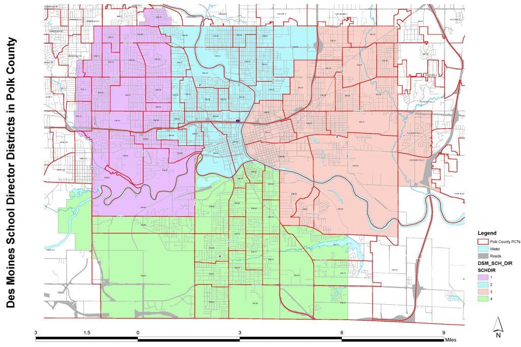 School Board district map