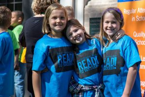 Students at Greenwood Elementary School took part in an event to launch the Read to Succeed project.